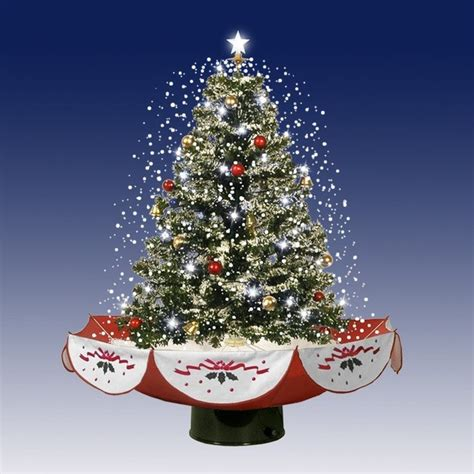 the tabletop prelit christmas tree hammacher schlemmer pre decorated artificial tabletop christmas trees