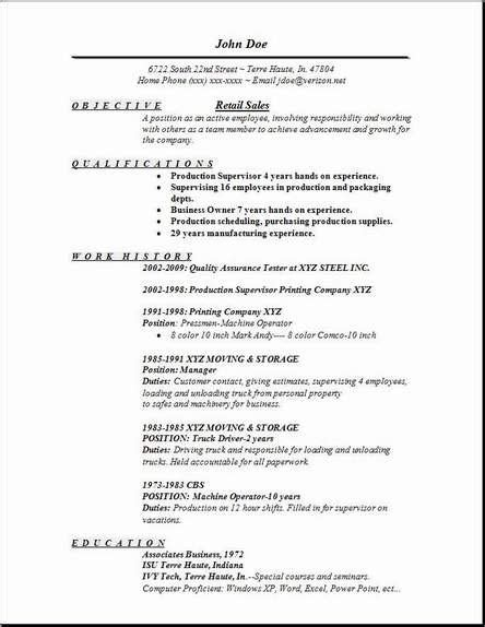 basic resume sles basic resume exles for retail gentileforda