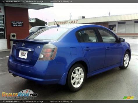 nissan sentra blue 2010 2010 nissan sentra 2 0 sr blue metallic beige photo 5