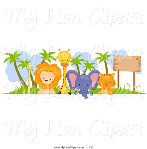 baby jungle animal border clip baby jungle borders clipart