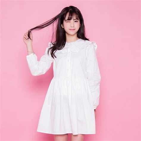 Dress Dress Korea Putih White 1 harajuku plus size clothing summer dress 2016 new dresses korean white dress sweet