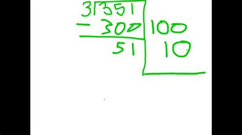 how to do a how to do a division problem using the partial sums method