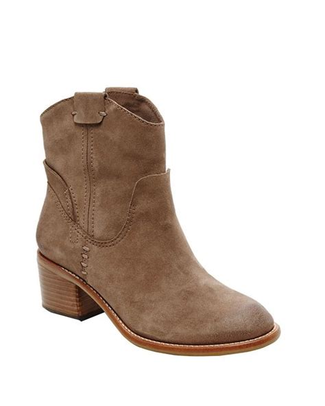 dolce vita grayden suede ankle boots in brown taupe