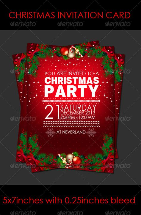 christmas party invitation card by junebaby graphicriver