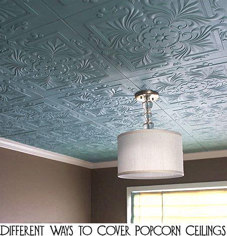 ways  cover popcorn ceilings