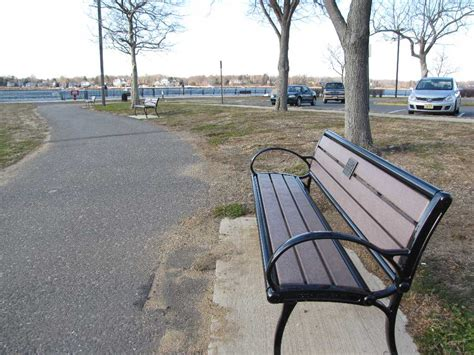 park bench nj red bank benches await spring butts red bank green