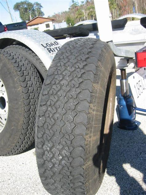 boat trailer tires uneven wear tire wearing unevenly to the inside page 2 the hull