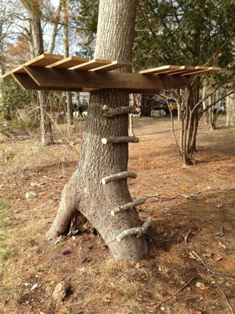simple and diy tree house for your outdoor