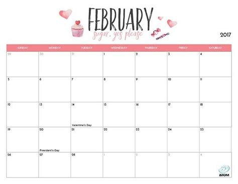 printable calendar 2018 cute and crafty cute february 2018 printable calendar mathmarkstrainones com