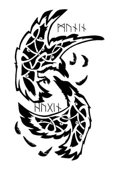 huginn and muninn tattoo 12 amazing norse designs