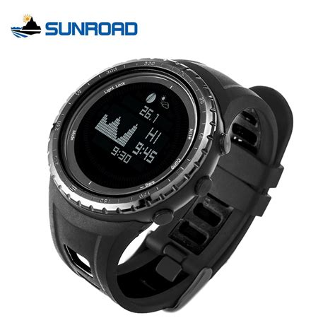 Jam Spovan Fx704 Sport For Fishing Forecast Outdoor Traveling 1 sunroad smart fishing digital thermometer pedometer blacklight tide and moon phase outdoor