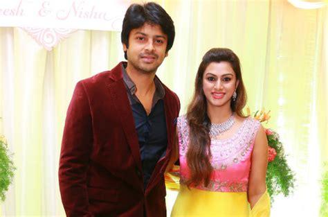 actor ganesh venkatraman wife ganesh venkatraman nisha krishnan wedding reception