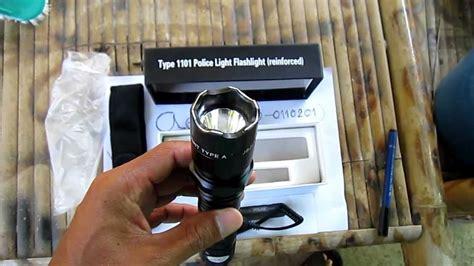 Flashlight Light by Test ไฟฉาย Type 1101 Police Light Flashlight Reinforc