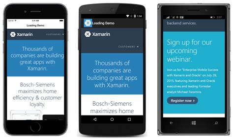 xamarin layout center webview xamarin