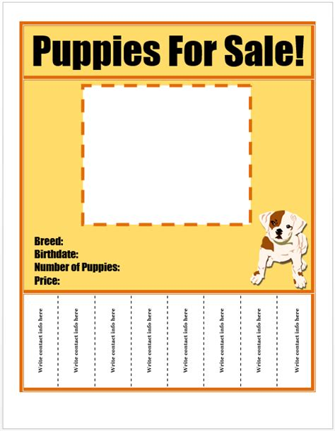 puppy for sale flyer templates puppies for sale flyer template template