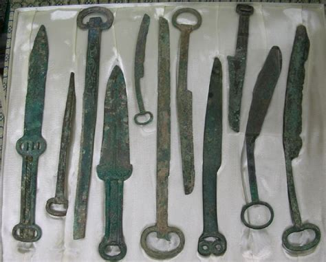 Ancient Chinese weapons of the Shang Dynasty. These are