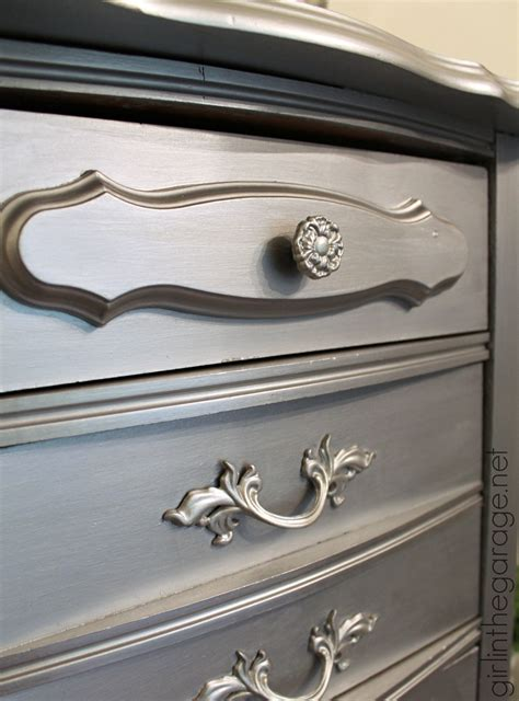 faux to fab metallic furniture makeover with modern masters paint in the garage 174