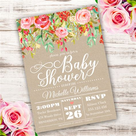 Shabby Chic Baby Shower Invitation Template Edit With Adobe Readerparty Printables Shabby Chic Birthday Invitation Templates Free