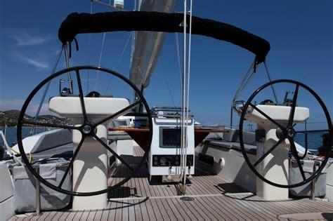 sailing boat steering wheel sailing yacht shooting star double steering wheels on