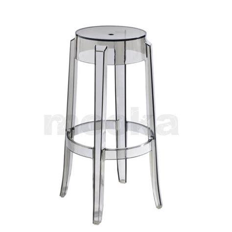 Ghost Stool by Kartell Charles Ghost Stool High Mooka Modern Furniture