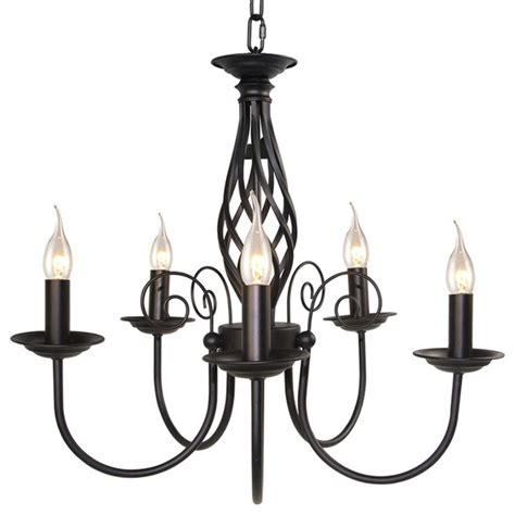 Black Contemporary Chandelier 5 Light Retro Style Iron Chandelier Black Contemporary Chandeliers By Lnc Home