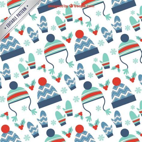 fashion pattern freepik winter clothing accessories pattern vector premium download