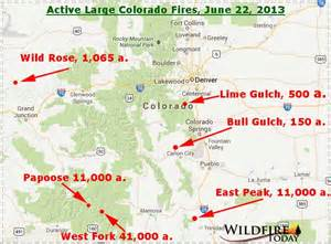 map of colorado wildfires june 22 2013 wildfire today