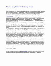 Image result for writing a reflective essay on a course