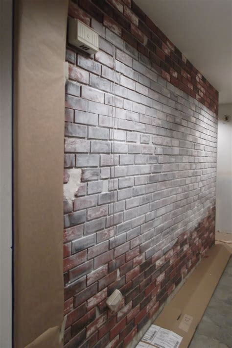 how i painted faux brick walls in the mancave saturday july 30 2011