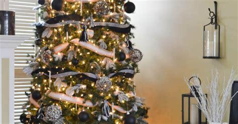 black white burlap christmas tree decorations hometalk