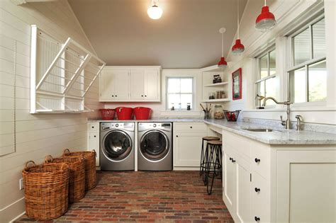Farmhouse Laundry Rooms   Country   Laundry Room   John Hummel