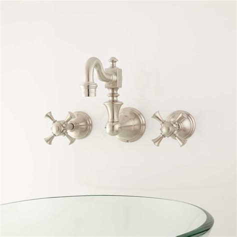 wall bathroom faucet vintage wall mount bathroom faucet cross handles bathroom