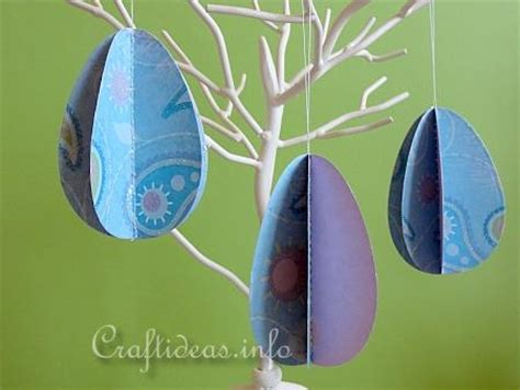 How To Make Easter Eggs Out Of Paper - free easter craft project quot 3 d paper egg quot