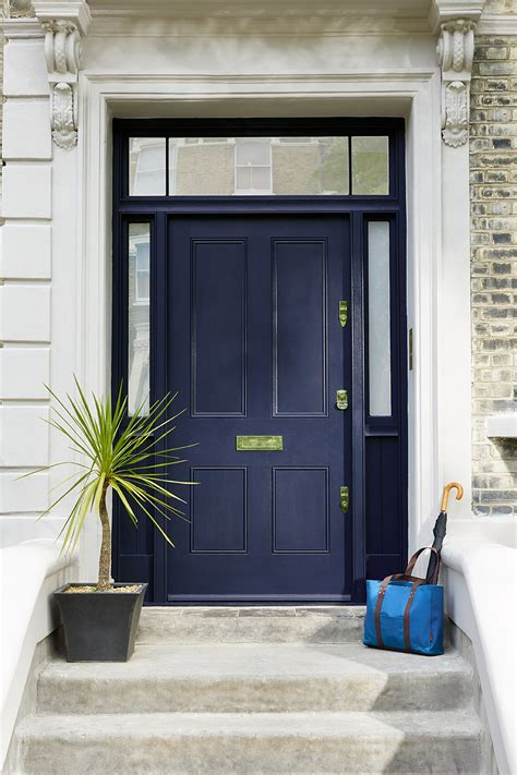 Blue Front Door Paint Dock Blue 252 Greene Paint Company Possible Front Door Colour Renovation Ideas