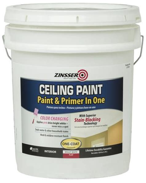 Primer As Ceiling Paint by Zinsser 174 Flat Bright White Ceiling Paint And Primer 5