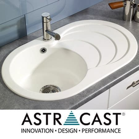 composite kitchen sinks uk astracast cascade 1 0 composite white kitchen sink ebay