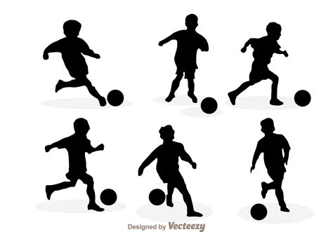 silhouette vector playing soccer silhouette vectors download free vector