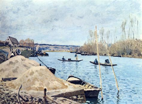 the seine at port marly sand piles 1875 alfred sisley