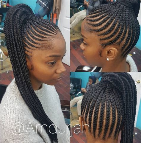 Ponytail Braid Hairstyles For Black Hair by Flawless Braided Pony Via Amourjah Black Hair Information
