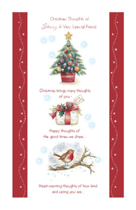 printable christmas cards for a friend quot thoughts of our friendship quot christmas printable card