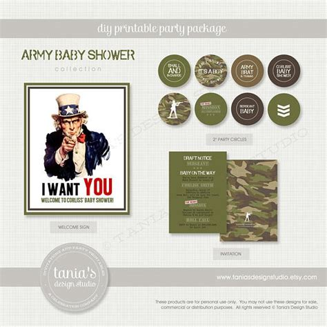 Army Baby Shower Theme by Army Baby Shower Printing Package To Taste Themes