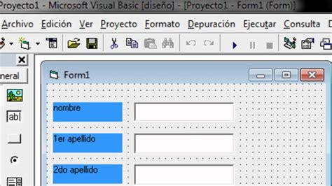 imagenes para visual basic 6 0 como hacer una base de datos en visual basic youtube