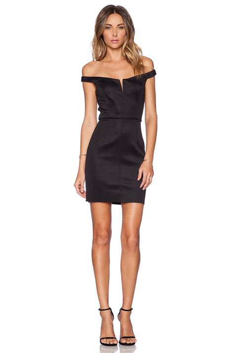 Dres Mimi shakuhachi shoulder mini dress in black lyst