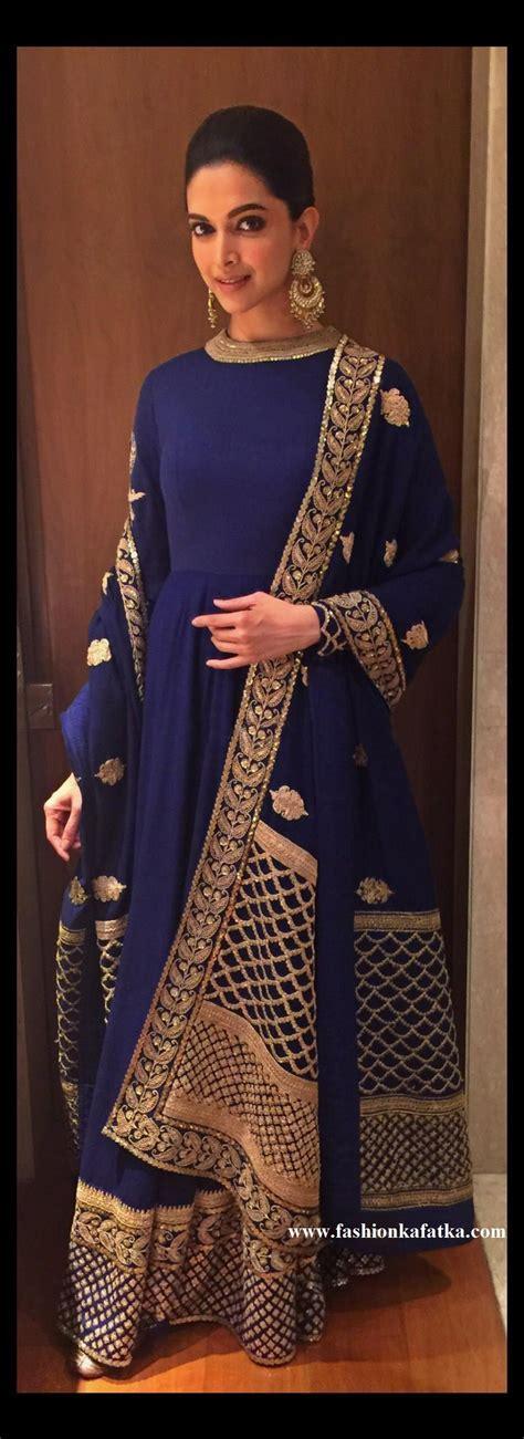 Deepika Padukone Designer Blue Anarkali