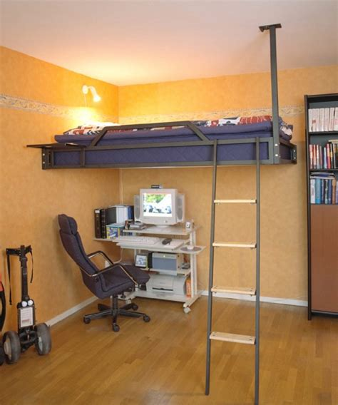 loft bed ideas for small rooms loft bed attached to the wall home designs project