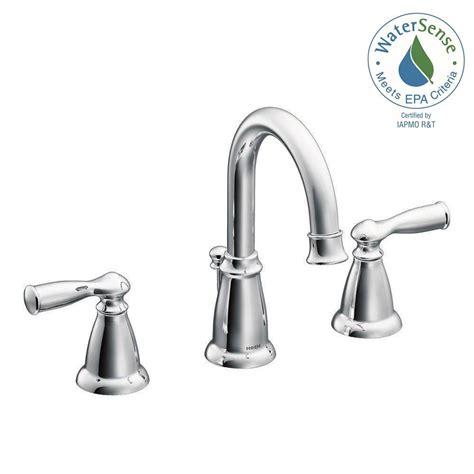 Bathroom Faucets Widespread by Moen Banbury 8 In Widespread 2 Handle Bathroom Faucet In