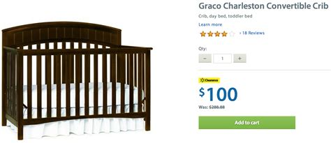 Baby Cribs Canada Free Shipping Walmart Canada Clearance Deals Graco Charleston Convertible Crib Only 100 Free Shipping