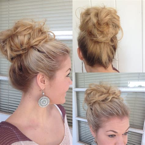 big bun hairstyles alexsis mae big bouffant hair bun