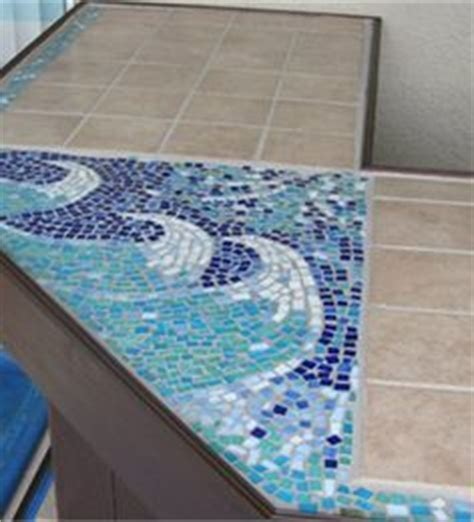 mosaic tile bar top glass tile bar top my work projects pinterest