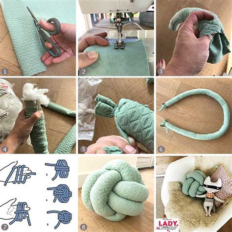 diy knot pillows craftbnb extraordinary diy knot pillows to give new appearance to